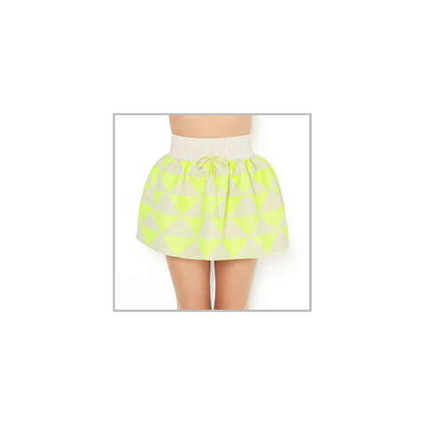 Lime Skirt Short