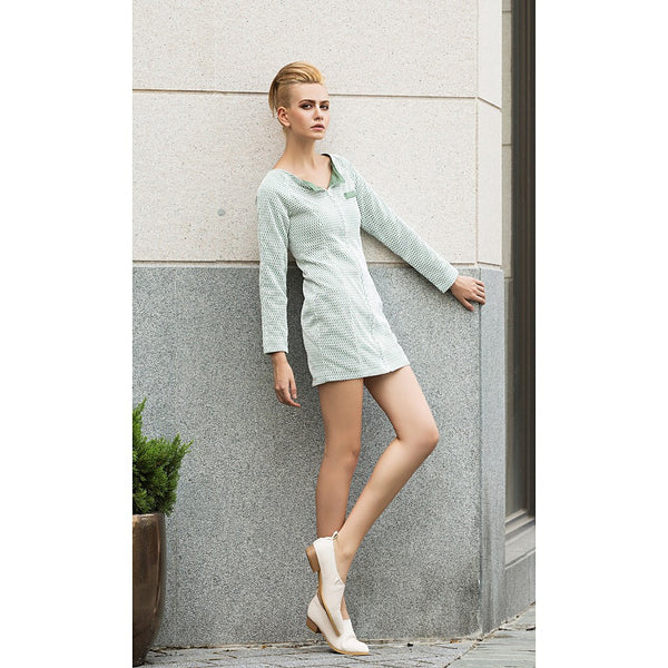 In the mood to chill suit dress in Pastel Green