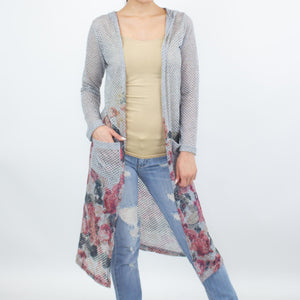 Long Sleeve Hooded Light Cardigan