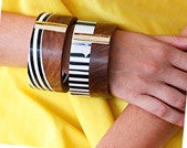 Brazilian wood cuff with Silver - Anthony's Emporium