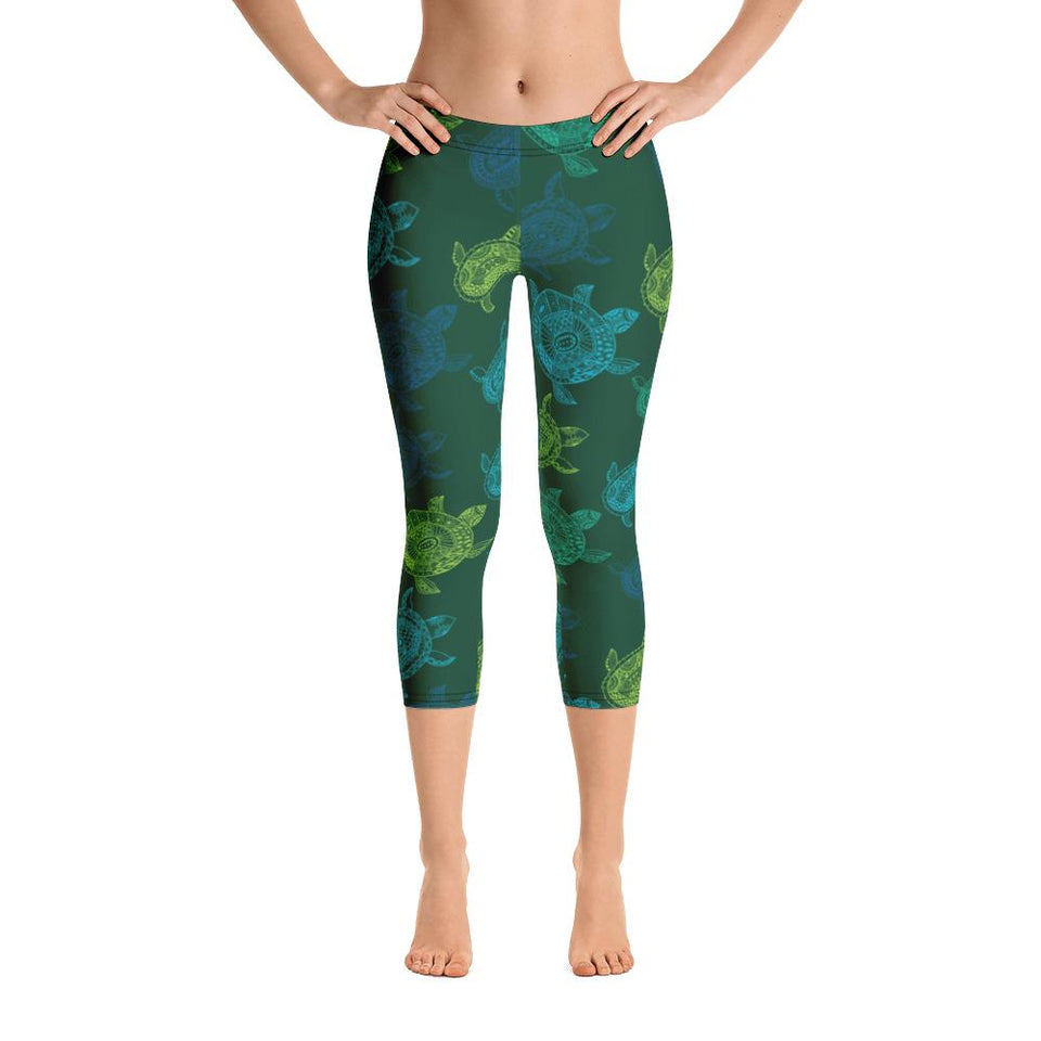 Women's All Day Comfort Turtle Capri Leggings