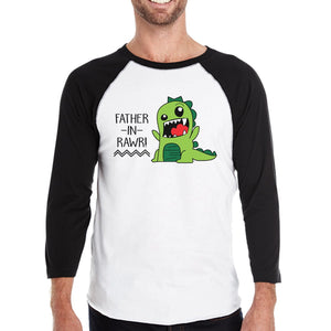 Father-In-Rawr Baseball Raglan Shirt Fathers Day Gifts for in Laws