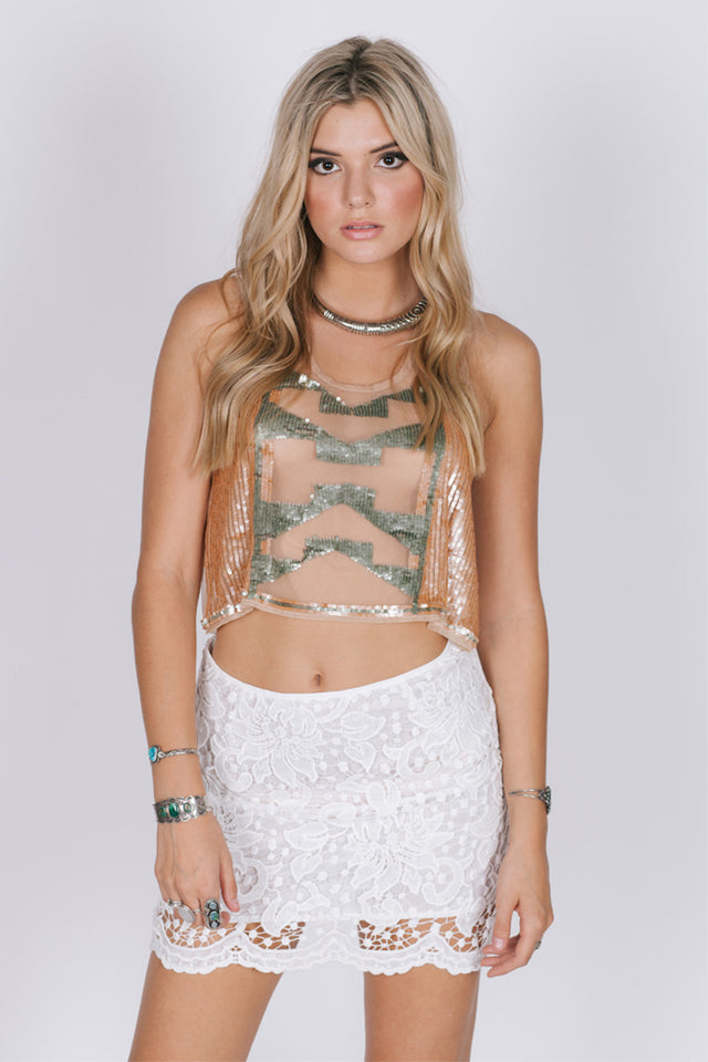 Lavish in Lace Skirt