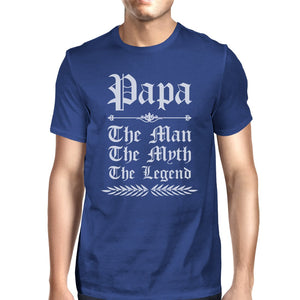 Vintage Gothic Papa Mens Popular Fathers Day Tee Shirt Best Gift