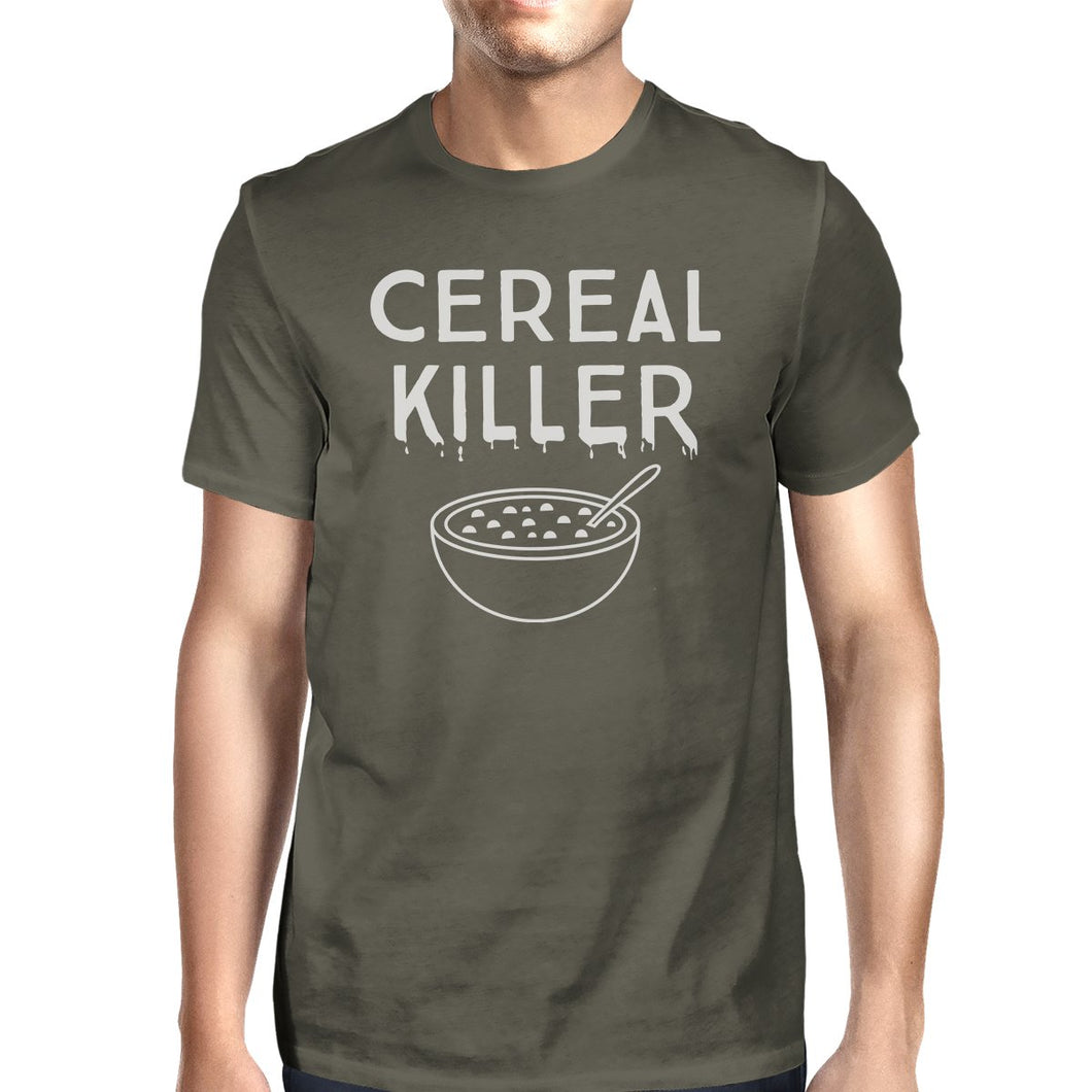 Cereal Killer Mens Dark Grey Shirt