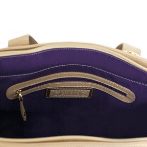 Luminous Leather Bag - Tan