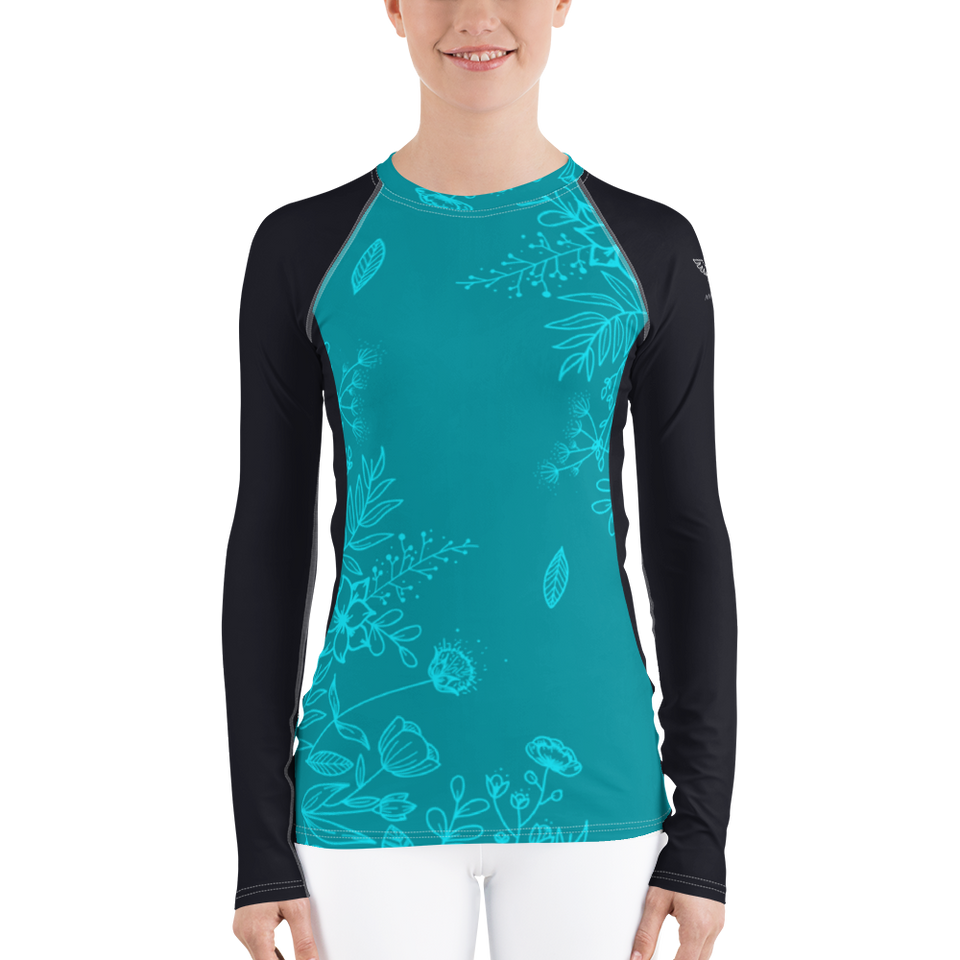Women's Aqua Season Long Sleeve All Weather UPF 40 Rash Guard
