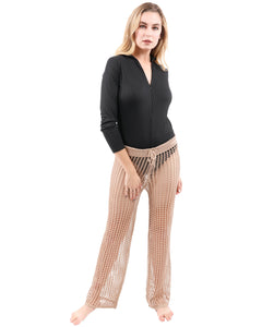 Maybrook Crochet Pant - Tan
