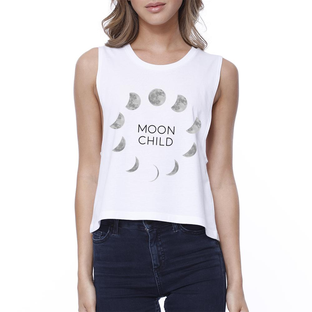 Moon Child Womens White Crop Top