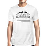 Winter Wonderland Mens White Shirt