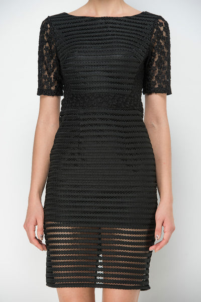 Sheer Textured Dress - Anthony's Emporium