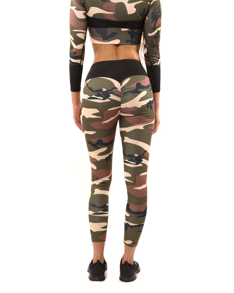 Virginia Camouflage Leggings - Brown/Green