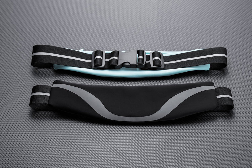 Rhythm Water-Resistant Sport Waist Pack Running Belt With Reflective Strip