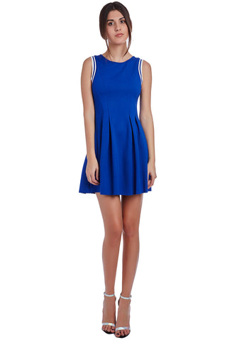 Blue Sleeveless Skater dress - Anthony's Emporium