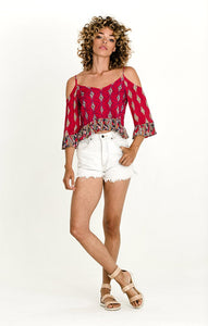 Alice Cold Shoulder Blouse