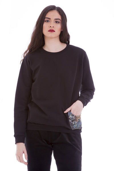 Women's Fashion Sweater - Urban Lights Pocket Sweater