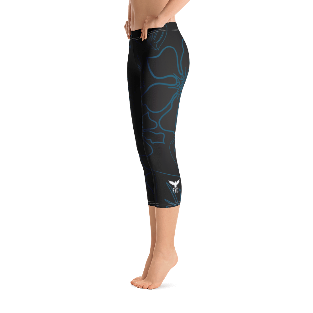 Women's All Day Comfort Black a L O H a Capri Leggings