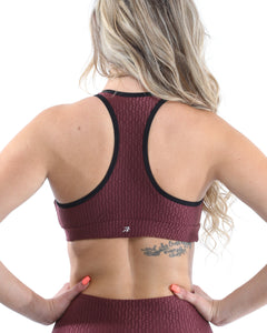 Verona Activewear Sports Bra - Maroon