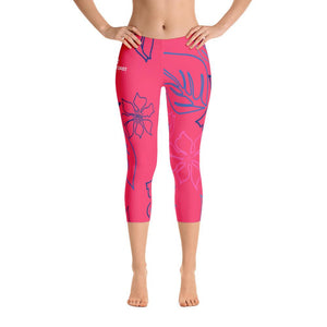 Women's All Day Comfort Red a L O H a Capri Leggings