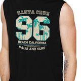 Santa Cruz Beach California Mens Black Muscle Top