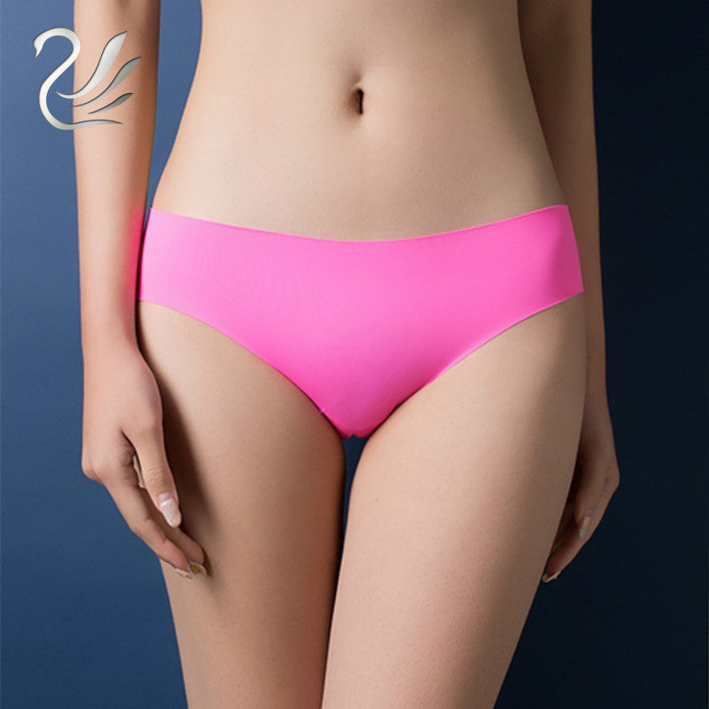 Women Brief Original New Ultra-thin Seamless Traceless Sexy Lingerie Trimming Low Waist Ruffles Underwear S-XL Plus Size Panties