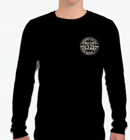 NEW! Route 32 Long Sleeve Distressed Double Logo T-Shirt