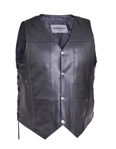 Slinger 10 Pocket Leather Side Laced Vest Mens