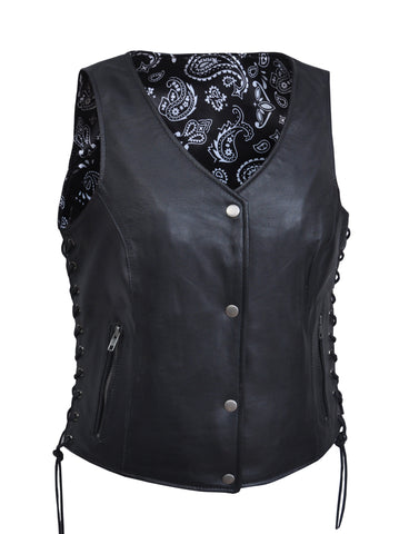 Paisley Print Lined Womens Vest