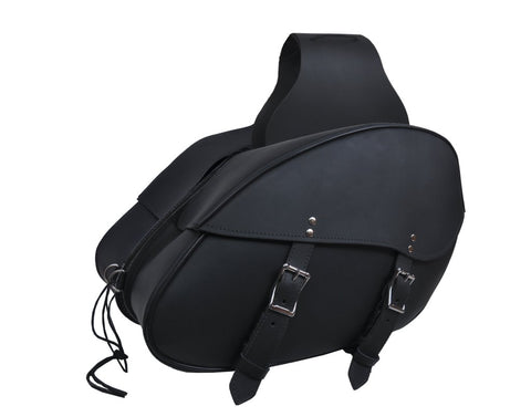 Modern Two Buckle Saddle Bags