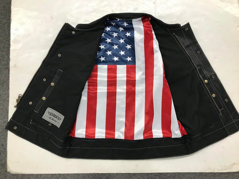 American Flag Lined Club Vest