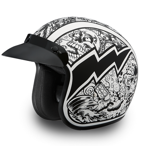 Graffiti Cruiser Helmet Smallest 3/4 DOT - Web only