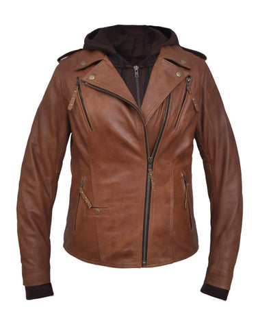 Yomi Classic Brown W/Removable Hoodie & Kevlar Reinforcement