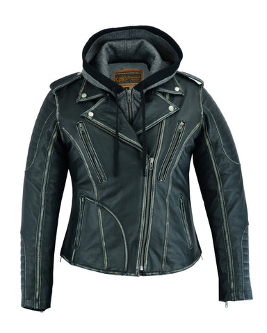 Distressed Modern MC Leather Jacket