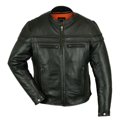 Sporty Leather Jacket Mens