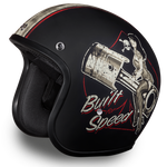 Built For Speed Cruiser Helmet Smallest 3/4 DOT - Web only