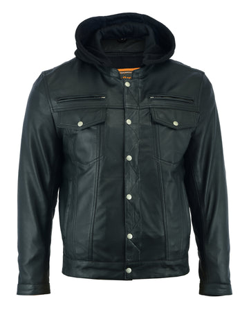 Volta Mens Leather Jacket