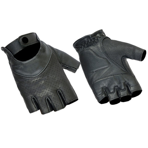 Perforated Fingerless Glove Womens