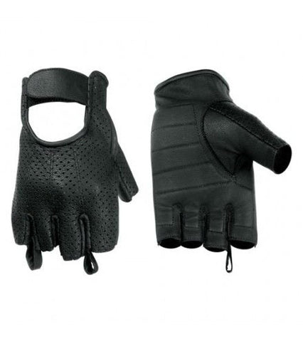 Perforated Fingerless Glove Mens