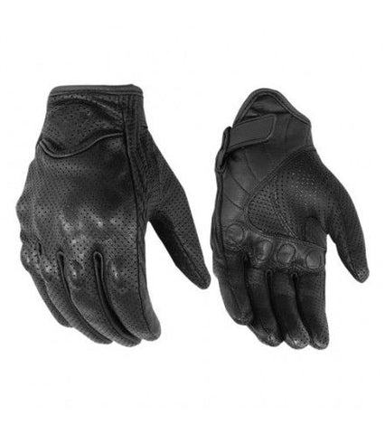 Perforated Leather Glove Mens