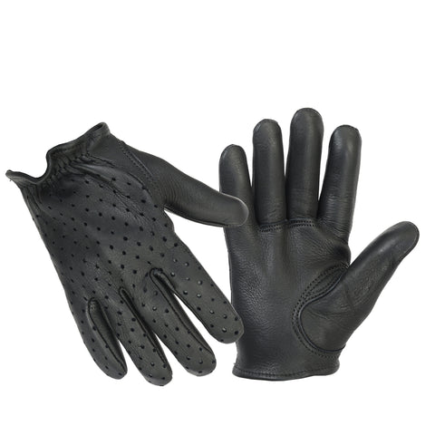 Police style Perforated Shorty Gloves - Mens