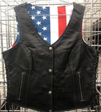 American Flag Lined Womens Vest