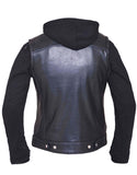 Club Style Vest with Removable Hoodie Womens