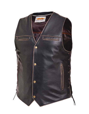 Vintage Brown Traditional Vest Men's
