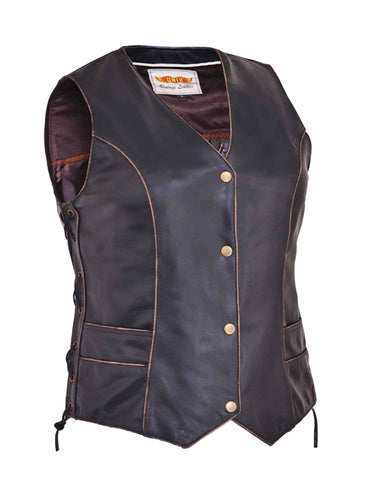 VINTAGE BROWN Traditional Vest Womens
