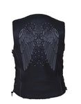 Lovely Wings Leather vest (Laced sides) Womens