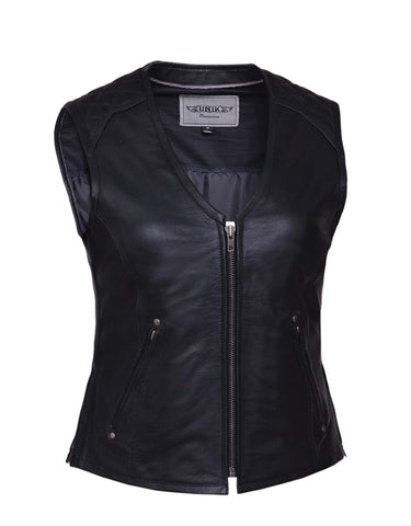 Premium Leather vest (zipper) Womens