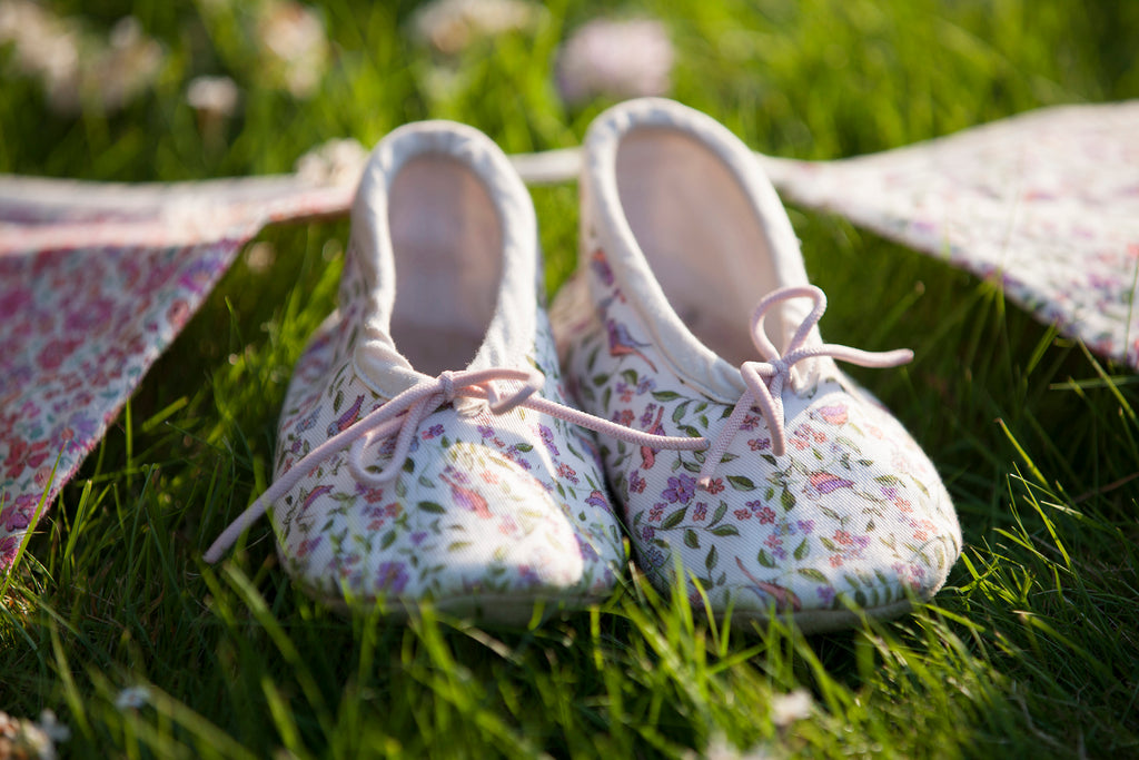 Organic cotton handmade ballet slippers