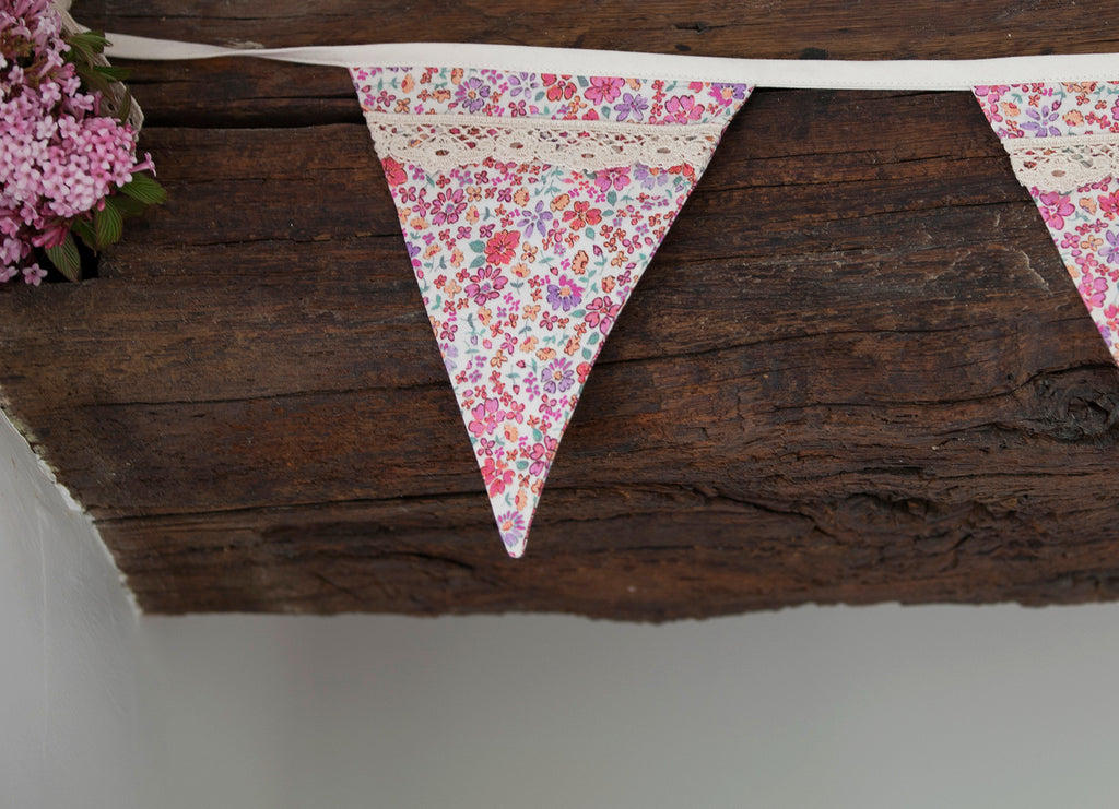 Bunting organic hand painted digitally printed