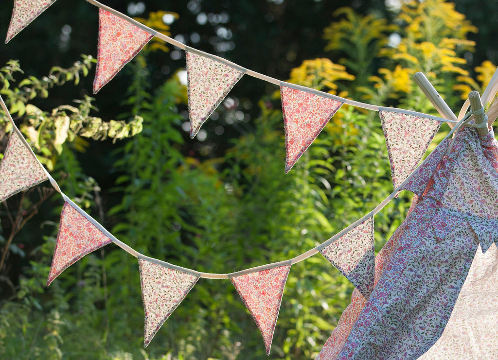 Bunting organic hand painted mixed print