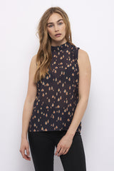 Second Arrival Mini Shoulder Top / Navy mønster